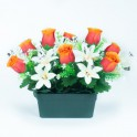 JARDINIERE CIM H26 L35CM ORANGE