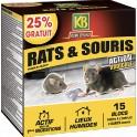 KB RATS ET SOURIS BLOCS LIEUX HUMIDES 300G