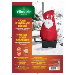Voile d'hivernage décoré Père Noël
